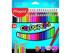 Карандаши цветные 48цв. Maped Color Peps 832048