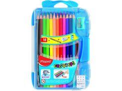 Карандаши цветные 12цв. Maped Smart Box + пр. каран. + ластик + точилка в пенале 832032