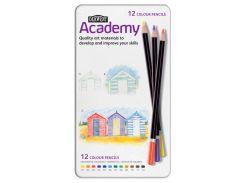 Карандаши цветные 12цв. Derwent Academy в металлической коробке D-2301937