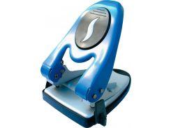 Дырокол металический Economix E40119 60л. с линейкой синий
