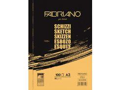 Склейка для эскизов Fabriano Schizzi Sketch А3 100л. 90г/м2 57729742