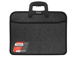 Портфель А4 Axent 2 отд. пластик на молнии черный 1612-01-А