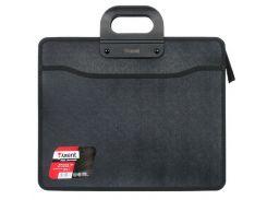 Портфель В4 Axent 3 отд. пластик на молнии черный 1603-01-А