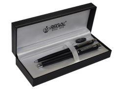 Ручки в наборе REGAL перо+шарик в футляре R68008.L.BF