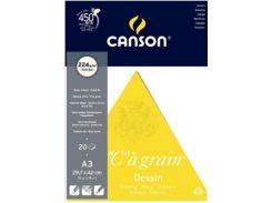 Бумага-склейка универсальная Canson для сухих и акварельных техник А3 29,7*42см 224г/м 20л. CON-200027185R