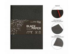 Блокнот для набросков А5 14,8*21см Rosa Talent 80г/м 96л. черные листы 16R5008