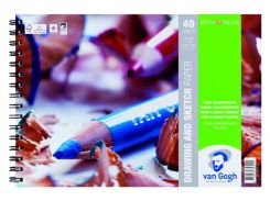 Альбом спираль А5 для набросков Van Gogh 160г/м 40л. 93182129