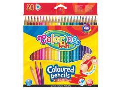 Карандаши цветные 24цв. Colorino треугольные 51828