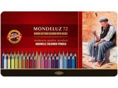 Карандаши акварельные цветные 72 цв. KOH-I-NOOR Mondeluz подарочные 372707