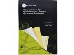 Бумага-склейка Manuscript для каллиграфии Parchment Pad, 90г/м2 36 л (3 нейтральных тона) MC313