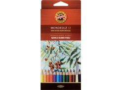 Карандаши акварельные цветные 12 цв. KOH-I-NOOR Mondeluz 3716