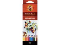 Карандаши акварельные цветные 18 цв. KOH-I-NOOR Mondeluz 3717