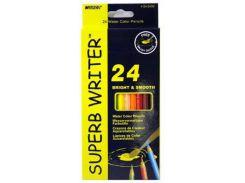 Карандаши акварельные 24цв. MARCO Water Soluble Colors с кисточкой 4120-24CB