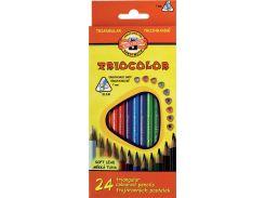 Карандаши цветные 24цв. KOH-I-NOOR 3134 Triocolor