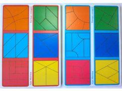 Игра логическая Вундеркинд Сложи квадрат. 3 ур. 12шт. Методика Никитиных СК-021