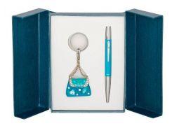 Ручки в наборе Langres Purse 1шт+брелок синий LS.122005-02