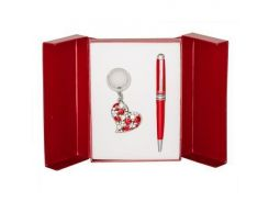 Ручки в наборе Langres Heart 1шт+брелок красный LS.122003-05