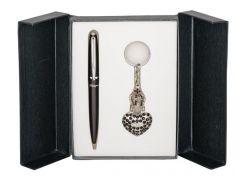 Ручки в наборе Langres Corona 1шт+брелок черний LS.122004-01