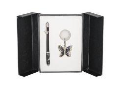 Ручки в наборе Langres Butterfly 1шт+брелок черний LS.122007-01