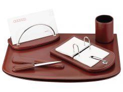 Настольный набор кожзам Optima Cabinet 5 предметов, коричневый O36473