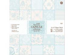 Набор бумаги для скрапбукинга Нежность 15,2*15,2 160г 32л Docrafts PMА160228