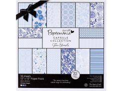 Набор бумаги для скрапбукинга Голубизна 30,5*30,5 160г 32л Docrafts PMА160302