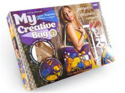 Набор для творчества DankoToys DT MCB-01-04 Сумка вышитая лентами и бисером My Creative Bag