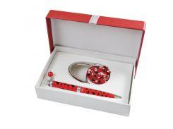 Ручки в наборе Langres Elegance 1шт+крючок для сумки, красный LS.122029-05