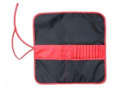 Пенал для кистей Rosa Studio ткань 37*37см черный - красный 231102