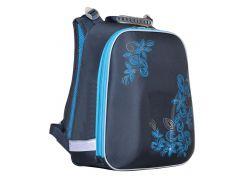 Рюкзак (ранец) 1 Вересня школьный каркасный 552795 Blue Flowers H-12 36*32*17см