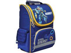 Рюкзак (ранец) 1 Вересня школьный каркасный Yes 552749 Steel Energy H-11 34*26*14см