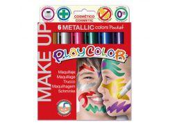 Аквагрим для лица карандаши INSTANT Playcolor make up metallic набор 6цв. 01011