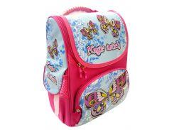 Рюкзак (ранец) школьный каркасный Willy WL-849 Butterfly мягкая спинка 32*25*11см