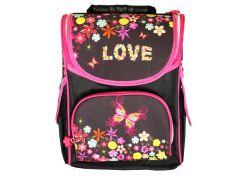 Рюкзак (ранец) школьный каркасный Smile 974755 Love ортопедический 34.5*25,5*13см