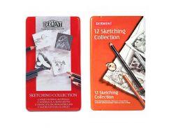 Набор для графики Derwent Sketching Collection 12 шт (6 брусков + 6 карандашей) D-34305