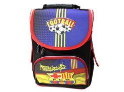 Рюкзак (ранец) школьный каркасный Smile 974780 Футбол ортопедический 34.5*25,5*13см