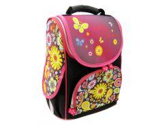 Рюкзак (ранец) школьный каркасный Smile 974822 Цветочки ортопедический 34.5*25,5*13см