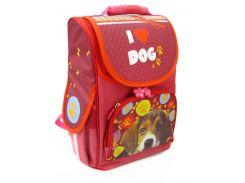 Рюкзак (ранец) школьный каркасный Smile 974825 Собачка ортопедический 34.5*25,5*13см