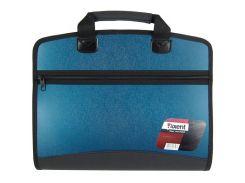 Портфель А4 Axent 4 отд. пластик синий 1621-12-А