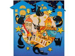 Набор для творчества Nova Sloboda Часы - вышивания бисером и нитками 27*29 см РТ6513 Кошкин дом