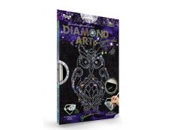 Набор для творчества DankoToys DT DAR-01-02 Diamond Art Картина со стразами Сова