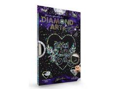 Набор для творчества DankoToys DT DAR-01-03 Diamond Art Картина со стразами Совы