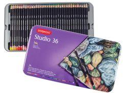 Карандаши цветніе 36цв. Derwent Studio в метал коробке 32198