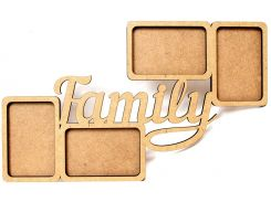 Заготовка для декорирования рамка Rosa Talent (МДФ) Family 50*30*0,6см 2807019