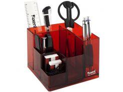 Настольный пластиковый набор Axent Cube красный 2106-06-А
