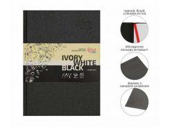 Блокнот для набросков А5 14,8*21см Rosa Studio 80г/м 96л. черные и белые листы 16R5010
