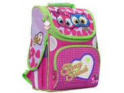 Рюкзак (ранец) школьный каркасный Rainbow 8-501 Fancy Owls 34*26*13см