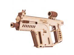 Деревянная сборная механическая 3D модель Wood Trick Штурмовая винтовка 190357