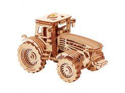 Деревянная сборная механическая 3D модель Wood Trick Трактор 190333