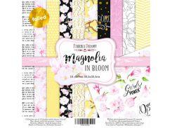 Набор бумаги для скрапбукинга Фабрика Декора 30,5*30,5см Magnolia in bloom 6+4(с зол. фольгированием)л + бонус 200г/м2 FDSP-01053